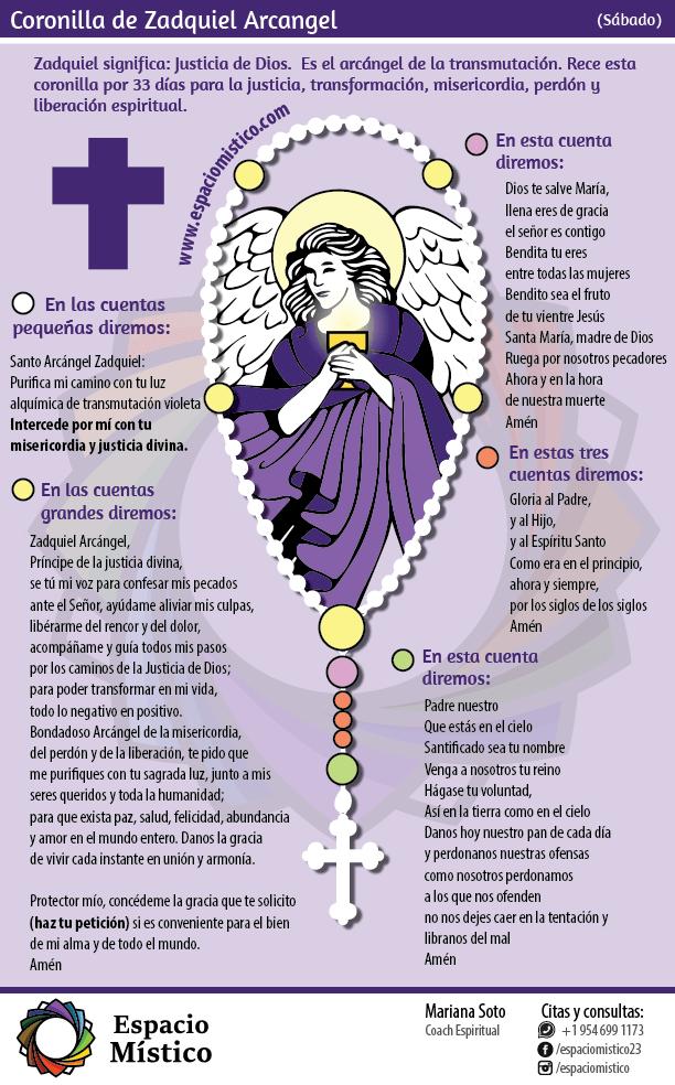 Coronilla San Zadquiel Arcángel